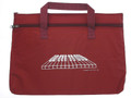 Keyboard Double Zipper Portfolio - Maroon
