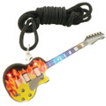 Flashing Necklace Electric Guitar With Flames
