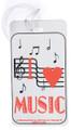 I Love Music Staff ID Tag