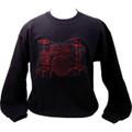 Drum Set Sweatshirt - Black/Red - Extra Large