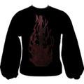 EMB Flaming Guitar Sweatshirt - Black/Red - Extra Large