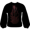 EMB Flaming Guitar Sweatshirt - Black/Red - Medium