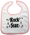 Rock Star Baby Bib - Pink