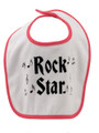 Rock Star Baby Bib - Red