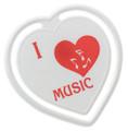 I Love Music Heart Clip