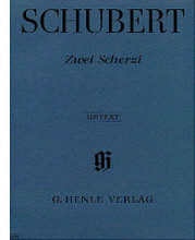 2 Scherzi B Flat Major and D Flat Major D 593 (Piano Solo) ** By Franz Schubert (1797-1828) ** Edited by Gertraud Haberkamp. For piano solo. Piano (Harpsichord), 2-hands. Henle Music Folios. Pages: IV and 7. SMP Level 7 (Late Intermediate). Softcover. 12 pages. G. Henle Verlag #HN489. Published by G. Henle Verlag.  About SMP Level 7 (Late Intermediate)  4 to 5-note chords in both hands and scales in octaves in both hands.