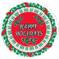 Happy Holidays Keyboard Vinyl Coaster