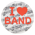 I Love Band Button