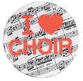 I Love Choir Button