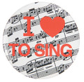 I Love To Sing Button