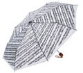 Sheet Music Umbrella - White (Mini travel size)