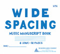 6 Stave Wide Spacing Book