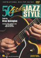 50 Licks Jazz Style by Bruce Buckingham. For Guitar. Instructional/Guitar/DVD. Jazz. DVD. Published by Hal Leonard.  Learn licks, turnarounds, bebop lines and more! Musicians Institute instructor Bruce Buckingham demonstrates the essential licks for the chords and progressions common to jazz II-V-I licks, turnaround licks, chromatic bebop lines, licks for altered chords and major and minor vamps, and more! He illustrates these licks in several styles, such as: swing, bossa nova, samba, swing 16ths, funky fusion and bluesy shuffles. With an accompanying instructional booklet, this DVD is a must for all jazz guitarists! 61 minutes.