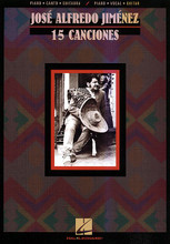 15 Canciones by Jose Alfredo Jimenez. By Jose Alfredo Jimenez. For Piano/Vocal/Guitar. P/V/G Composer Collection. Latin. Difficulty: medium. Songbook. Vocal melody, piano accompaniment, lyrics (Spanish), chord names, guitar chord diagrams and introductory text. 64 pages. Published by Hal Leonard.  This P/V/G collection features 15 great hits by Jose Alfredo Jimenez, the king of Mexican ranchera music, plus a biography in both English and Spanish. The songs, with complete Spanish lyrics, include: Cuando Vivas Conmigo * El Jinete * El Rey * Ella (Brindo Por Ella) * La Enorme Distancia * La Media Vuelta * La Retirada * Si Nos Dejan * and more.