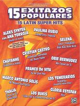 15 Latin Super Hits. (15 Exitazos Populares). By Various. For Piano/Vocal/Guitar. P/V/C Mixed Folio; Piano/Vocal/Chords. MIXED. Latin. Softcover. Text language: Spanish. 88 pages. Hal Leonard #MFM0510. Published by Hal Leonard.  Titles are: Amor Prohibido • Bidi Bidi Bom Bom • Cerca de Tõ • Como Fui a Enamorarme de Tõ • Cuidarte el Alma • Dame Otra Tequila • Duele el Amor • Hoy • Lloviendo Estrellas • Me Cans de Tõ • Mi Mayor Sacrificio • No Hace Falta • Rosa Linda • Sombras • Tu de Que Vas.