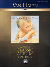 """1984. (Classic Album Editions). By Van Halen. For Piano/Vocal/Guitar. Artist/Personality; Personality Book; Piano/Vocal/Chords. Piano/Vocal/Guitar Artist Songbook. Songbook. Vocal melody, lyrics, piano accompaniment, chord names and guitar chord diagrams. 56 pages. Alfred Music Publishing #26188. Published by Alfred Music Publishing.  Alfred has expanded the Classic Album Editions series with the new Piano/Vocal/Chord and Authentic Guitar TAB editions of Van Halen's huge hit record 1984. 1984, one of Van Halen's best-known albums, includes the songs """"Panama,"""" """"Hot for Teacher,"""" """"I'll Wait,"""" and """"Jump."""" This Piano/Vocal/Chords edition provides the lyrics along with piano and chord arrangements for all the songs on the record."""