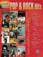 """2008 Greatest Pop & Rock Hits. (Greatest Hits). For Piano, Keyboard, Voice (PIANO/VOCAL/CHORDS). P/V/C Mixed Folio; Piano/Vocal/Chords. MIXED. Pop; Rock. Softcover. 224 pages. Alfred Music Publishing #30455. Published by Alfred Music Publishing.  Pick up the Deluxe Annual Edition of 2008 Greatest Pop & Rock Hits and play all the best songs of 2008 now! This unique compilation includes songs from every genre, from A Fine Frenzy's popular ballad """"Almost Lover"""" and Plumb's """"In My Arms,"""" to love songs such as Gavin DeGraw's """"In Love With a Girl"""" and the Lifehouse hit """"Whatever It Takes,"""" to best-selling rock titles such as Seether's """"Fake It,"""" the Paramore single """"CrushCrushCrush,"""" and Finger Eleven's """"Paralyzer."""" Collect all 34 songs now and learn the best hits of the year! All songs in 2008 Greatest Pop & Rock Hits are arranged for Piano/Vocal/Chords."""