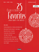 25 Christmas Favorites (From Today's Top Artists). Edited by Bryce Inman. For Piano/Vocal/Guitar. Songbook. Softcover. 192 pages. Word Music #080689534287. Published by Word Music.  25 classics of the Christmas season in arrangements that match the renditions of contemporary artists: The Angel Song (Jaci Velasquez) • Ave Maria (Josh Groban) • Believe (from The Polar Express) (Josh Groban) • Breath of Heaven (Mary's Song) (Amy Grant) • Christ Is Come (Big Daddy Weave) • Christmas Angels (Michael W. Smith) • Christmas Day (Michael W. Smith) • Christmas Is My Favorite Time of the Year (Kenny Rogers) • Christmas Lullaby (I Will Lead You Home) (Amy Grant) • Christmas Makes Me Cry (Mandisa with Matthew West) • Christmas Time Is Here (Bebo Norman) • Christmas Wish (Stacie Orrico) • He Made a Way in a Manger (Candi Pearson) • How Many Kings (Downhere) • It's the Messiah (Wynonna) • Joy to the Rhythm of the World (Newsong) • Love Came Down at Christmas (Jars of Clay) • Mary, Did You Know (Clay Aiken) • Mary, Sweet Mary (Selah) • O Come, All Ye Faithful (Rush of Fools) • Rose of Bethlehem (Selah) • Season of Love (Jaci Velasquez) • Silent Night (Taylor Swift) • The Star Still Shines (Diamond Rio) • Welcome to Our World (Chris Rice).