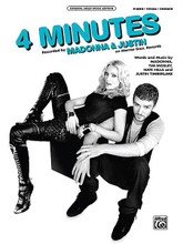 "4 Minutes by Madonna, Justin Timberlake, and Timbaland. By Madonna and Tim Mosley. For Piano/Vocal/Guitar. Artist/Personality; Piano/Vocal/Chords; Sheet; Solo. Piano Vocal. Pop. 10 pages. Alfred Music Publishing #30683. Published by Alfred Music Publishing.  Madonna's hot single ""4 Minutes"" lands the queen of pop on the Billboard top 10 list once again, thanks to the help of fellow pop stars Justin Timberlake and Timbaland. With 4 minutes to save the world, Madonna continues to do it one hit at a time! The sheet music to ""4 Minutes"" is formatted for Piano/Vocal/Chords."