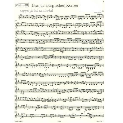 Bach, JS: Brandenburg Concerto No  3, BWV 1048, Violin 3
