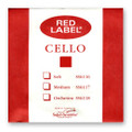 Red Label Cello D String - Medium