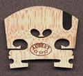 Aubert Violin Bridge - Superior - Ebony Inlay - 3/4 Size