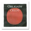 Pirastro Obligato Cello String Set, 4/4 Size - Medium