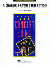 A Charlie Brown Celebration ** By Vince Guaraldi ** Arranged by Johnnie Vinson. Score and full set of parts. Young Band (Concert Band). Grade 3. Published by Hal Leonard.  The music of Vince Guaraldi has become as much a part of the Peanuts(TM) gang as Linus' blanket! Here is a delightful treat for your next concert featuring: 'Charlie Brown Theme' * 'Linus And Lucy' * 'Great Pumpkin Waltz' * 'Track Meet' * and just a taste of * 'Christmas Time Is Here'. (Sure to bring a smile!) (5:10).  Instrumentation: * 1 - Conductor Score (Full Score) * 1 - Piccolo * 8 - Flute * 2 - Oboe * 2 - Bassoon * 4 - Bb Clarinet 1 * 4 - Bb Clarinet 2 * 4 - Bb Clarinet 3 * 1 - Eb Alto Clarinet * 2 - Bb Bass Clarinet * 2 - Eb Alto Saxophone 1 * 2 - Eb Alto Saxophone 2 * 2 - Bb Tenor Saxophone * 1 - Eb Baritone Saxophone * 3 - Bb Trumpet 1 * 3 - Bb Trumpet 2 * 3 - Bb Trumpet 3 * 2 - F Horn 1 * 2 - F Horn 2 * 3 - Trombone 1 * 3 - Trombone 2 * 2 - Baritone B.C. * 2 - Baritone T.C. * 4 - Tuba * 1 - String Bass * 2 - Percussion 1 * 2 - Percussion 2 * 2 - Mallet Percussion * 1 - Timpani