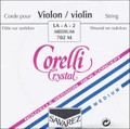 Corelli Crystal Violin String Set, Loop Forte