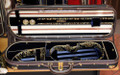 Musafia Enigma Aureum Violin Case - oblong semi-eliptical