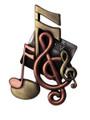 Music Notes Brooch