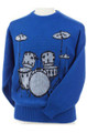 Blue Drum Set Sweater - Small