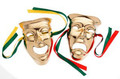 Wall Hanging Comedy Tragedy Brass Faces