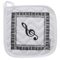 Keyboard With G-Clef Pot Holder