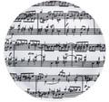 Sheet Music Cake Plate