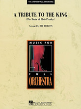 A Tribute to the King (The Music of Elvis Presley) arranged by Ted Ricketts. For Full Orchestra (Score & Parts). HL Full Orchestra. Grade 4. Published by Hal Leonard.  Commissioned by the Sarasota Orchestra.  Song List:      Also Sprach Zarathustra     All Shook Up     C'mon Everybody     Can't Help Falling In Love     Hound Dog     Jailhouse Rock     Love Me Tender   Instrumentation:  - CONDUCTOR SCORE (FULL SCORE) 44 pages  - FLUTE 1 3 pages  - FLUTE 2 3 pages  - OBOE 1 3 pages  - OBOE 2 3 pages  - BASSOON 1 3 pages  - BASSOON 2 3 pages  - BB CLARINET 1 3 pages  - BB CLARINET 2 3 pages  - BB TRUMPET 1 3 pages  - BB TRUMPET 2 3 pages  - BB TRUMPET 3 3 pages  - F HORN 1 3 pages  - F HORN 2 3 pages  - F HORN 3 3 pages  - F HORN 4 3 pages  - TROMBONE 1 3 pages  - TROMBONE 2 3 pages  - TROMBONE 3 3 pages  - TUBA 3 pages  - PERCUSSION 1 3 pages  - PERCUSSION 2 2 pages  - TIMPANI 2 pages  - PIANO 8 pages  - HARP 2 pages  - VIOLIN 1 4 pages  - VIOLIN 2 4 pages  - VIOLA 3 pages  - CELLO 4 pages  - STRING BASS/ELECTRIC BASS 3 pages