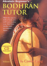 Absolute Beginner's Bodhran. For Bodhran Drum (BODHRAN). Waltons Irish Music Books. Book only. 32 pages. Hal Leonard #WM1405. Published by Hal Leonard.  This 30-page book will introduce the beginner to the bodhrán. Learn to care for and handle your bodhrán, as well as how to hold it, various playing positions and more. The descriptions of the bodhrán and instruction in the book are well illustrated. Reels, jig exercises and nine songs are also included. Recommended for beginners and enthusiasts alike. CD available separately.