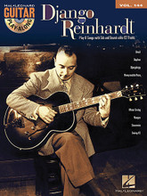 Django Reinhardt. (Guitar Play-Along Volume 144). By Django Reinhardt. For Guitar. Guitar Play-Along. Softcover with CD. Guitar tablature. 56 pages. Published by Hal Leonard.  The Guitar Play-Along Series will help you play your favorite songs quickly and easily! Just follow the tab, listen to the CD to hear how the guitar should sound, and then play along using the separate backing tracks. The melody and lyrics are also included in the book in case you want to sing, or to simply help you follow along. The audio CD is playable on any CD player, and also enhanced so PC & Mac users can adjust the recording to any tempo without changing pitch! 8 songs: Brazil • Daphne • Djangology • Honeysuckle Rose • Minor Swing • Nuages • Souvenirs • Swing 42.