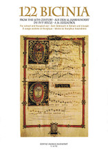 122 Bicinia (from the 16th Century). Edited by Andras Soos. For Choral. EMB. Softcover. 80 pages. Editio Musica Budapest #Z14732. Published by Editio Musica Budapest.  This collection contains longer and shorter two-part excerpts from polyphonic ecclesiastical choral works, for pedagogical and liturgical use. Includes excerpts taken from Mass movements and Magnificats by Palestrina, Lassus, Gombert, Clemens non Papa, and others.