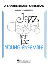 A Charlie Brown Christmas by Vince Guaraldi. Arranged by Paul Murtha. For Jazz Ensemble. Young Jazz Classics. Grade 3. Published by Hal Leonard.  Jazz Classics for the Young Ensemble – Grade 3  Vince Guaraldi's music provided a level of jazz sophistication for the popular Charlie Brown television specials, and his holiday offerings were some of the best! This appealing medley includes Linus and Lucy * Skating * O Tannenbaum * and Christmas Time Is Here.  Instrumentation:  1 - FULL SCORE 16 pages  1 - ALTO SAX 1 2 pages  1 - ALTO SAX 2 2 pages  1 - TENOR SAX 1 2 pages  1 - TENOR SAX 2 2 pages  1 - BARITONE SAX 2 pages  1 - TRUMPET 1 2 pages  1 - TRUMPET 2 2 pages  1 - TRUMPET 3 2 pages  1 - TRUMPET 4 2 pages  1 - TROMBONE 1 2 pages  1 - TROMBONE 2 2 pages  1 - TROMBONE 3 2 pages  1 - TROMBONE 4 2 pages  1 - DRUMS 2 pages  1 - PIANO 4 pages  1 - GUITAR 3 pages  1 - BASS 3 pages