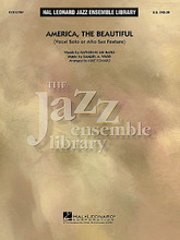 America, the Beautiful ((Vocal or Alto Sax Solo)). Arranged by Mike Tomaro. For Jazz Ensemble. Jazz Ensemble Library. Score and parts. Published by Hal Leonard.  Mike Tomaro brings us a bluesy and soulful rendition of this patriotic favorite that features either an alto sax soloist or vocal soloist. Great gospel feel for big band!  Instrumentation:  1 - FULL SCORE 8 pages  1 - VOCAL SOLO 1 page  1 - ALTO SAX (SOLO) 1 page  1 - ALTO SAX 1 1 page  1 - ALTO SAX 2 1 page  1 - TENOR SAX 1 1 page  1 - TENOR SAX 2 1 page  1 - BARITONE SAX 1 page  1 - TRUMPET 1 1 page  1 - TRUMPET 2 1 page  1 - TRUMPET 3 1 page  1 - TRUMPET 4 1 page  1 - TROMBONE 1 1 page  1 - TROMBONE 2 1 page  1 - TROMBONE 3 1 page  1 - TROMBONE 4 1 page  1 - DRUMS 1 page  1 - PIANO/VOCAL 4 pages  1 - GUITAR 2 pages  1 - BASS 2 pages