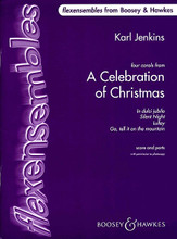 A Celebration of Christmas. (Flexensembles). By Karl Jenkins. For Concert Band (BAND SET). Boosey & Hawkes Concert Band. 124 pages. Boosey & Hawkes #M060113079. Published by Boosey & Hawkes.  Teachers can choose the best instrumental combination to suit their group. Only the melody line and accompaniment are required; all other parts are optional. The instrumentation and the number of players used are entirely up to you!  Contains Four familiar carols: In dulci Jubilo • Silent Night • Lullay • Go, tell it on the Mountain.