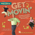 """Get Movin'. (Seasonal Movement and Activity Songs for Grades K-3). By John Jacobson and Roger Emerson. Sing-along CD. Music Express Books. Published by Hal Leonard.  It's time to get movin'! Bring your knees to your nose. Do a little ol' soft shoe. Be a turkey. Make angels in the snow. Be President! Get ready to shimmy & shake and wiggle & giggle from the first day of school to the last. Here are twelve more seasonal songs from the popular """"Hop 'Til You Drop"""" series that will help you do just that! John Jacobson's Music Express magazine brings you this movin' & groovin' collection! Present each song with helpful teaching tips, simple movement ideas and reproducible lyric sheets. Accompany your class with piano arrangements, or sing-along with John and a group of children singers. Two separate quality recordings are available: a Sing-Along CD and a Performance/Accompaniment CD of song versions with and without singers. Available separately: Song Collection, Sing-Along CD and Performance/Accompaniment CD. Suggested for grades K-3.  Song List:      It's Time     Up!     Look How Far We've Come     It's A Great Thing To Be A Turkey!     Making Angels In The Snow     Thump! Thump! Thump!     Thanks!     Mittens     Any Kid Could Be President!     This And That     Music!     School's Out!"""