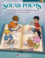"""Sound Poems. (More Interactive Listening and Reading Fun). By Cristi Cary Miller. For Choral (Teacher CD-ROM). Music Express Books. 56 pages. Published by Hal Leonard.  Enjoy more interactive listening and reading fun with Sound Poems! Give your students the opportunity to experience classic poetry, famous speeches and documents of history like never before! These 18 reproducible poems contain highlighted words that, when read, indicate special instrumental sounds and rhythmic motifs are to be played by your students. If you don't have all the instruments suggested, substitute or consider body percussion. There are many choices to create your presentation. The teaching suggestions provide a framework for instruction, but can be manipulated to best fit your students' abilities. The enclosed CD-ROM offers projectable and printable options. You can read the poem or select several of your students to read. And don't forget about the possibility of acting out these poems. It will only make the experience richer for your students as well as add a lot of enjoyment. Doesn't this """"sound"""" like fun? You bet! 18 Poems including: Daddy Fell into the Pond, The Spider and the Fly, The Night Before Christmas, Jolly Old Saint Nicholas, Marching Song, Two Little Kittens, The Land of Nod, Limericks, The Hare and the Tortoise, and more! Suggested for grades K-5."""