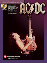 "AC/DC - Guitar Signature Licks. (A Step-by-Step Breakdown of the Guitar Styles and Techniques of Angus & Malcolm Young). By Angus Young, AC/DC, and Malcolm Young. For Guitar. Signature Licks Guitar. Softcover with CD. Guitar tablature. 80 pages. Music Sales #HL14041352. Published by Music Sales.  Learn to play high-voltage riffs & solos of one of rock's greatest bands! This book/CD pack teaches the key licks for: Back in Black • Dirty Deeds Done Dirt Cheap • Girls Got Rhythm • Have a Drink on Me • Hells Bells • Highway to Hell • The Jack • Moneytalks • Thunderstruck • T.N.T. • Whole Lotta Rosie • You Shook Me All Night Long.  About Hal Leonard Signature Licks  The Signature Licks book/audio packs are especially formatted to give instruction on how to play a particular artist style by using the actual transcribed, ""right from the record"" licks! Designed for use by anyone from beginner right up to the experienced player who is looking to expand their insight. The books contain full performance notes and an overview of each artist or group's style with transcriptions in notes and tab. The audio accompaniment features playing tips and techniques, as well as playing examples at a slower tempo."