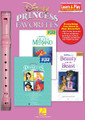 Disney Princess Favorites. (Learn & Play Recorder Pack). Composed by Various. For Recorder. Recorder. Published by Hal Leonard.  A must for every Disney fan, this pack contains a high-quality recorder, plus three terrific Recorder Fun! books featuring the music of everyone's favorites princesses! Contains 20 songs in all: Be Our Guest • Beauty and the Beast • Belle • Colors of the Wind • Daughters of Triton • Part of Your World • Under the Sea • A Whole New World • and more. Each book comes complete with instructions for playing the recorder, and a handy fingering chart.