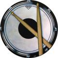 Drum Practice Pad Round Vinyl Coaster
