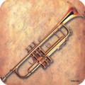 Vinyl Coaster Trumpet Sheet Music