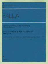 2 Danzas Españolas La Vida Breve (Original Piano Solo Version). By Manuel de Falla (1876-1946). Edited by Rie Hirai and Takejiro Hirai. For Piano. Piano Solo. Softcover. 36 pages. Zen-On #ZN124492. Published by Zen-On.  Based on the original edition and its reprints. With added editorial fingering and pedaling, editorial notes, an article on the life and works of de Falla, and more.