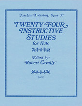 24 Instructive Studies for Flute, Op. 30 by Karl Joachim Andersen (1847-1909). Edited by Robert Cavally. For Flute. Robert Cavally Editions. Grade 4. 28 pages. Hal Leonard #B420. Published by Hal Leonard.